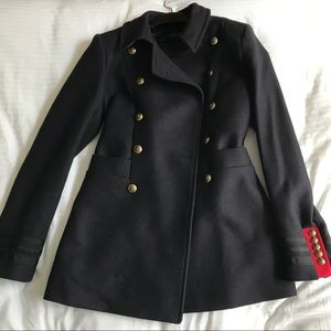 Zara coat with military details
